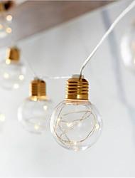 Недорогие -4 м светодиодный свет шнура открытый водонепроницаемый сказочные огни гирлянда g45 лампы сад патио свадьба новогоднее украшение свет цепи теплый белый освещение аа батареи