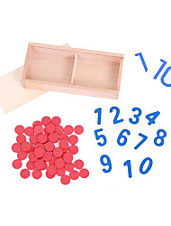 cheap -Educational Flash Card Montessori Teaching Tool Building Blocks Educational Toy Math Toy compatible Wooden Legoing Eco-friendly Education Classic Toy Gift / Kid's