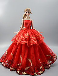 cheap -Doll Clothes Costume Skirt Wedding Dress Plastic Fashion Toddler Girls' Toy Gift