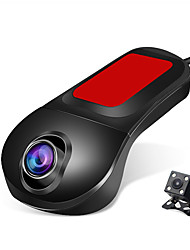cheap -Cross-border Mini CarLog Hidden wifi Car Parking Monitoring High Definition Double Lens Reverse Image Wifi hidden double recording recorder with GPS 1080p HD Car DVR 140 Degree Wide Angle CMOS