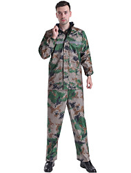 cheap -Protective Clothing Anti Dust And Droplet Men's Suit, Solid Colored Hooded Long Sleeve Polyester Army Green