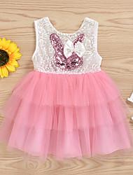 cheap -Baby Girls' Basic Easter Rabbit Color Block Sleeveless Dress Blushing Pink