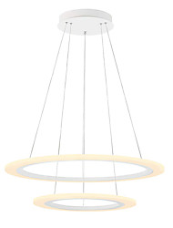 cheap -2-Light Modern Acrylic Simplicity LED Pendant Lights 60/40 Two laps Circle Design indoor light for officeLiving Room Bedroom Restaurant