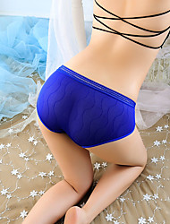 cheap -Women's Lace Brief - Normal Low Waist Black White Purple One-Size