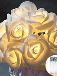 cheap -1M 10led AA Battery LED Rose Christmas Lights Holiday String Lights Valentine Wedding Decoration Flower Bulbs LED Lamp
