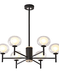 cheap -EMPEROR LANG 6-Light 75 cm Sputnik Design / Cluster Design Chandelier Metal Glass Painted Finishes Modern / Nordic Style 110-120V / 220-240V