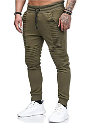 cheap -Men's Basic wfh Sweatpants Pants - Solid Colored Army Green Red Light gray US32 / UK32 / EU40 US34 / UK34 / EU42