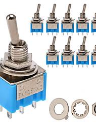 Недорогие -Smt-202 вкл / вкл переменного тока 125 В 6а 6 контактов тумблер