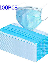 cheap -Face Mask Disposable Masks Waterproof Breathable Disposable PM 2.5 Protection Anti-Dust Nonwoven Melt Blown Fabric Filter CE Certification Waterproof Stretch Blue