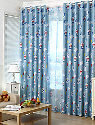 cheap -Gyrohome 1PC Blue Machine Cats Shading High Blackout Curtain Drape Window Home Balcony Dec Children Door *Customizable* Living Room Bedroom Dining Room
