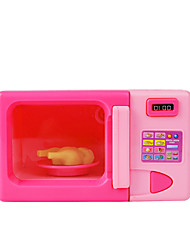 cheap -Pretend Professions & Role Playing Microwave Oven Lovely Simulation Plastic Shell Kids Toddler All Toy Gift 1 pcs