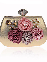cheap -Women's Crystals / Flower Polyester Evening Bag Wedding Bags Floral Print Black / Blue / Purple / Fall & Winter