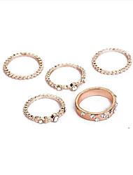 cheap -wrap ring Rose Gold Imitation Diamond Alloy Blessed Trendy Sweet 1 set 6 7 8 9 10 / Women's