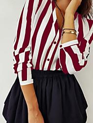 cheap -Women's Daily Shirt - Striped Black