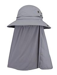 Недорогие -Рыбалка Шляпа Шляпа рыбака Шляпа для туризма и прогулок Кепка С защитой от ветра Защита от солнечных лучей Устойчивость к УФ Дышащий Сплошной цвет Чинлон Осень Весна Лето для Муж. Жен.