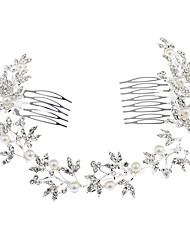 cheap -Women's Hair Jewelry For Party Evening Gift Quinceañera & Sweet Sixteen Birthday Alloy Silver 1pc