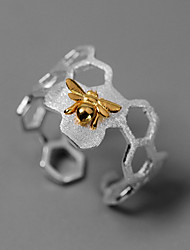 cheap -Women's Adjustable Ring 1pc Silver Platinum Plated Alloy Stylish Daily Jewelry Bee Cute