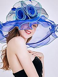 Недорогие -Старинный Мода Тюль / органза Головные уборы с Пух / Цветы / Отделка 1 шт. Свадьба / на открытом воздухе Заставка