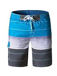 cheap -Men's Beach board shorts Swimsuit Lace up Print Color Block Blue Red Green Gray Swimwear Bathing Suits