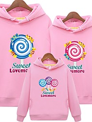 cheap -Family Look Letter Hoodie & Sweatshirt White
