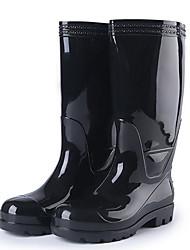 cheap -Men's PVC Spring & Summer Boots Waterproof Mid-Calf Boots Black / Yellow