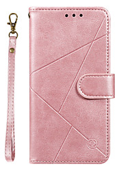 cheap -Case For Samsung Galaxy A20 / A20 Plus  A20 Ultra Wallet / Card Holder / with Stand Full Body Cases Lines Waves Solid Colored PU Leather for Galaxy A90 A80 A70 A60 A50 A30 A20 A20E M10 M20 Note10 Plus