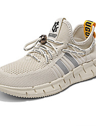 cheap -Men's Mesh Summer / Spring & Summer Sporty / Casual Athletic Shoes Running Shoes Breathable Black / Yellow / Beige