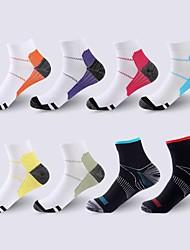 cheap -Compression Socks Athletic Sports Socks 8 pairs Short Women's Men's Crew Socks Tube Socks Breathable Sweat wicking Comfortable Gym Workout Basketball Running Skateboarding Sports Color Block Nylon