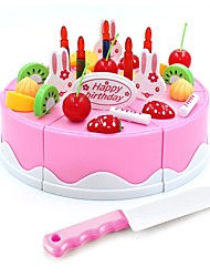 cheap -Pretend Makeup Set Pretend Makeup Play Family Fruit Cake Simulation Hand-made Parent-Child Interaction Plastic Shell Child's Toddler All Toy Gift 37 pcs