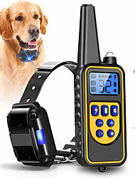 cheap -Dog Collar Training Anti Bark Electric LCD Display Remote Control Shock / Vibration Remote Controlled Sound Vibration 2 in 1 Classic Metalic Plastic Black