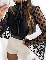 cheap -Women's Polka Dot Blouse Daily Black