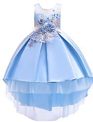 cheap -Princess Dress Party Costume Flower Girl Dress Girls' Movie Cosplay Princess Pink Beige Light Blue Dress Children's Day Masquerade Polyester