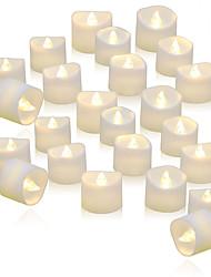 Недорогие -24шт батареи беспламенных свечей светодиодные фонари чай мерцание длительное время автономной работы теплый белый реалистичный для свадебного стола подарок празднование