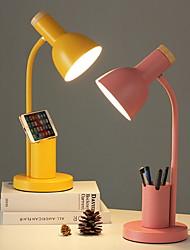 cheap -Nordic Style Desk Lamp Indoor Reading Light Metal Adjustable 90-240V Multifunction lamp with Pen Holder Yellow Desk Lamp Blush Pink Lamp Grass-green Lamp