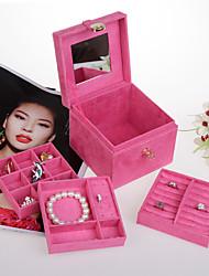 cheap -Jewelry Box - Leather Rose, Light Pink, Red 14 cm 14 cm 12 cm / Women's