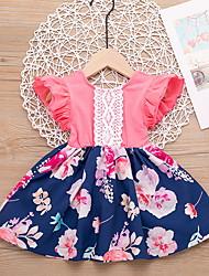 cheap -Baby Girls' Basic Easter Floral Sleeveless Dress Blushing Pink