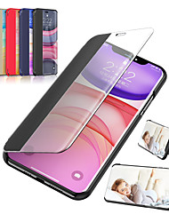 cheap -Case For Apple iPhone 11 / iPhone 11 Pro / iPhone 11 Pro Max with Stand / Mirror / Flip Full Body Cases Solid Colored PU Leather / Plastic