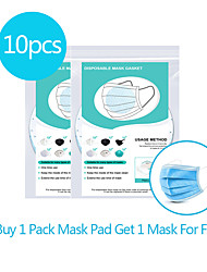 cheap -10pcs Circular Disposable Mask Gasket Isolation Filter Pad Anti-fog Haze Dust-proof Breathable Mask Replacement Pad Cotton Pad