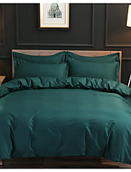 cheap -Duvet Cover Sets 3 Piece Linen / Cotton Solid Colored Red Printed Rustic