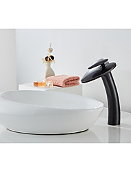 cheap -Elegant Bathroom Sink Faucet - Love Waterfall Oil-rubbed Bronze Centerset Single Handle One HoleBath Taps