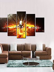 cheap -5 Panels Modern Canvas Prints Artwork Pictures Decor Print Rolled  Stretched People Cartoon