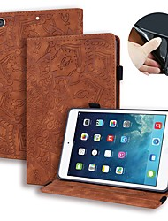 cheap -Case For Apple iPad Air / iPad 4/3/2 / iPad (2018) Wallet / Card Holder / Embossed Full Body Cases Solid Colored / Flower PU Leather / iPad (2017)