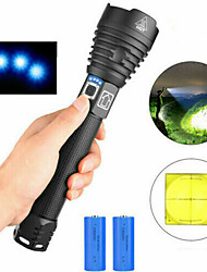 cheap -Flashlight Kits Handheld Flashlights / Torch Waterproof LED Emitters with Batteries and Chargers Waterproof Easy Carrying Durable Camping / Hiking / Caving Everyday Use Cycling / Bike USB White Light