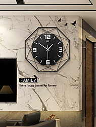 cheap -Silent Iron Art Fashion Wall-Mounted Clock Modern Design Clocks For Home Decor Office European Style Hanging Wall Watch Clock