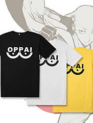 cheap -Inspired by ONE PUNCH-MAN Cosplay Costume T-shirt Pure Cotton Letter T-shirt For Men's / Women's