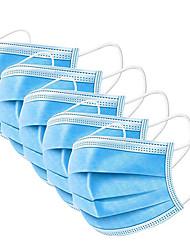 Недорогие -100 pcs Лицевая маска Защита от пыли Одноразовый Защитные маски Нетканое полотно Ткань выдувной фильтр CE Сертификация Дышащий Высокое качество Синий