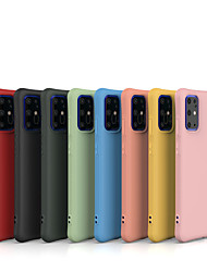 cheap -Phone Case For Samsung Galaxy Back Cover S20 Plus S20 Ultra S20 S10 S10 + S10 Lite Galaxy S10 E Galaxy J4 Plus(2018) Galaxy J6 Plus(2018) A30 Shockproof Frosted Solid Color TPU