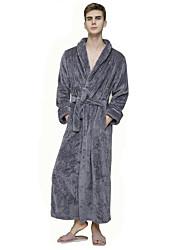 Недорогие -Муж. Пэчворк Халат Ночное белье Однотонный Винный Белый Лиловый M L XL