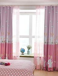Недорогие -Gyrohome 1 шт. кролик сад затенение высокий затемняющий занавес драпировка окна дома балкон декабрь детская дверь * настраиваемый * гостиная спальня столовая