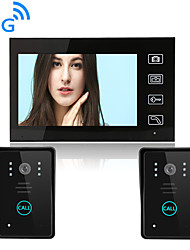 cheap -Wireless 2.4GHz 7 inch Hands-free 800*480 Pixel One to One video doorphone